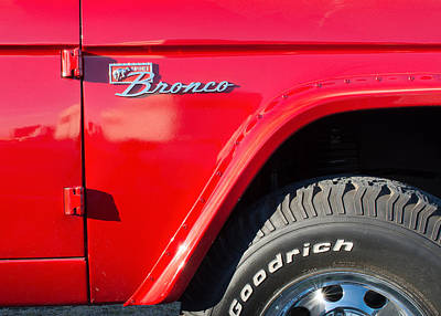 Photograph - Red Bronco Jeep by Rospotte Photography