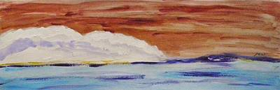 Painting - Red Brown Sky by Mary Carol Williams