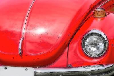 Digital Art - Red Bug by Irwin Seidman