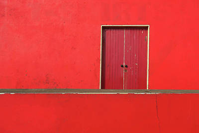 Photograph - Red Building Abstract by Patrick Dinneen