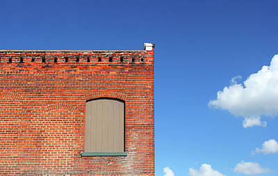 Photograph - Red Building Blue Sky by Mary Bedy