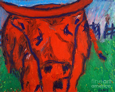 Painting - Red Bull - Bgreb by Fr Bob Gilroy SJ