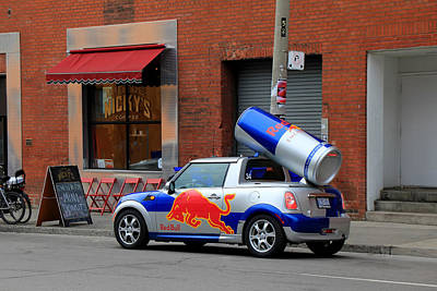Photograph - Red Bull Car by Andrew Fare