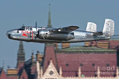 Red Bull North American B-25j Mitchell Art Print
