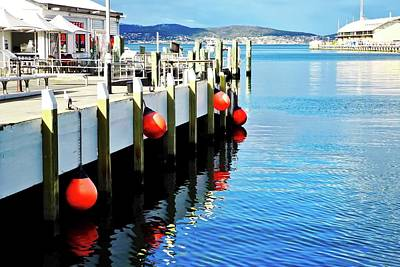 Photograph - Red Bumpers In Hobart by Kirsten Giving