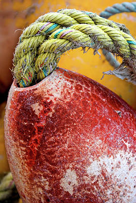 Fisher Photograph - Red Buoy Closeup by Carol Leigh