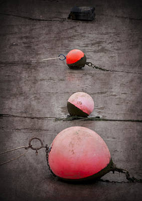 Red Buoys  Art Print by Svetlana Sewell
