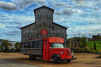 Photograph - Red Bourbon Truck by Joseph Caban
