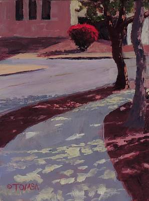 Painting - Red Bush On Ludlow - Art By Bill Tomsa by Bill Tomsa
