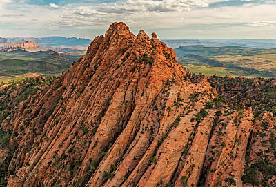 Photograph - Red Butte From The Air by Loree Johnson