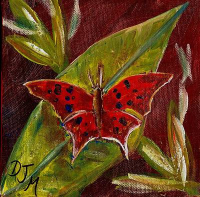 Red Butterfly Art Print by Dalila Jasmin