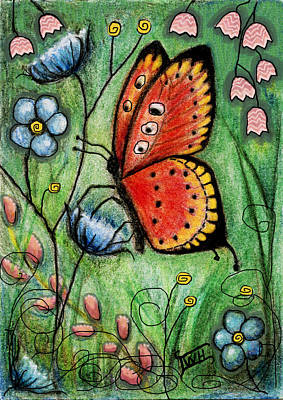 Mixed Media - Red Butterfly by Terry Webb Harshman