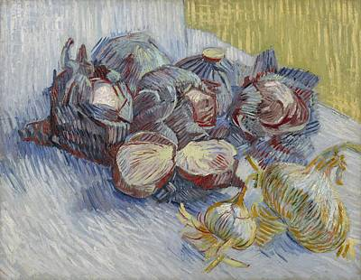 Painting - Red Cabbages And Onions Paris, October - November 1887 Vincent Van Gogh 1853  1890 by Artistic Panda