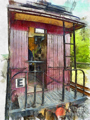 Photograph - Red Caboose  by Claire Bull