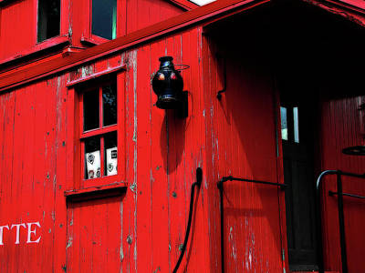 Red Caboose Art Print by Scott Hovind