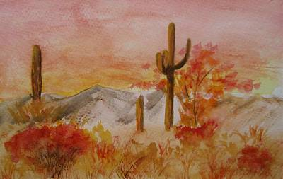 Painting - Red Cactus by Jamie Frier
