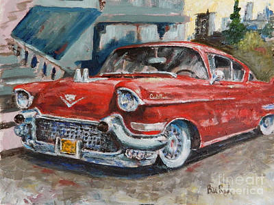 Painting - Red Caddy by William Reed