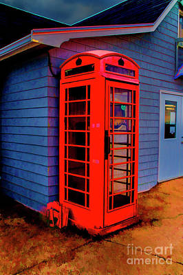 Photograph - Red Call Box by Rick Bragan