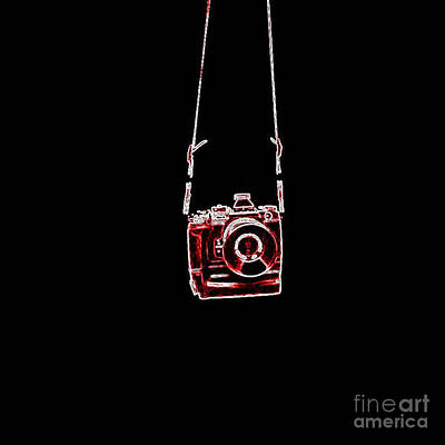 Photograph - Red Camera by Bob Brents