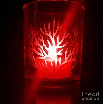 Photograph - Red Candle Light by Rachel Hannah