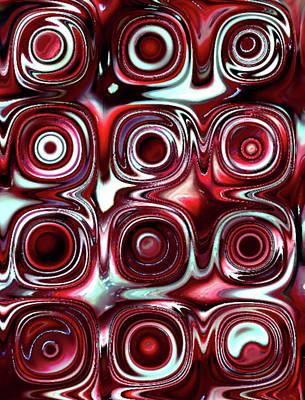 Candy Digital Art - Red Candy B 2 by Patty Vicknair