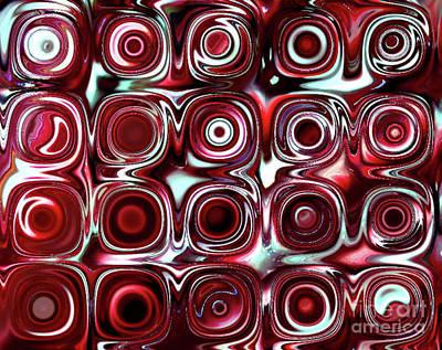 Candy Digital Art - Red Candy B by Patty Vicknair