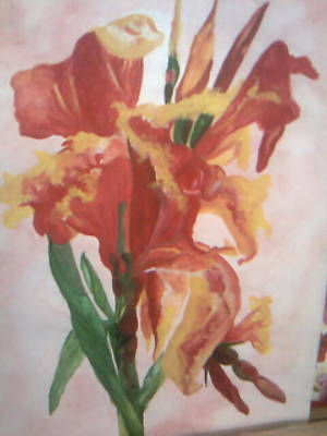 Painting - Red Canna  by Seema Sharma