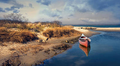 Photograph - Red Canoe by Robin-Lee Vieira