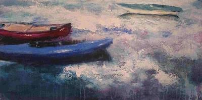 Red Canoe Art Print