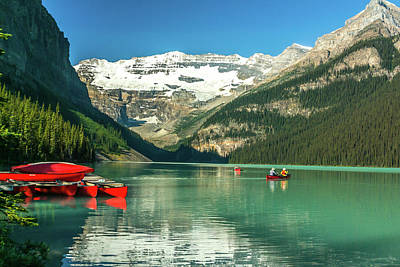 Photograph - Red Canoes  by Robert Caddy