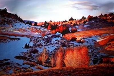 Painting - Red Canyon Snow by Joseph Barani