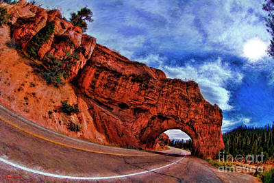 Photograph - Red Canyon Tunnel Bryce Canyon by Blake Richards