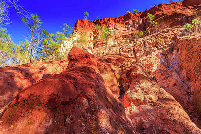 Photograph - Red Canyon Wall by Doug Camara