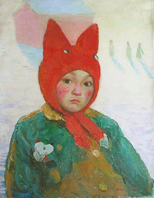 Painting - Red Cap by Ji-qun Chen