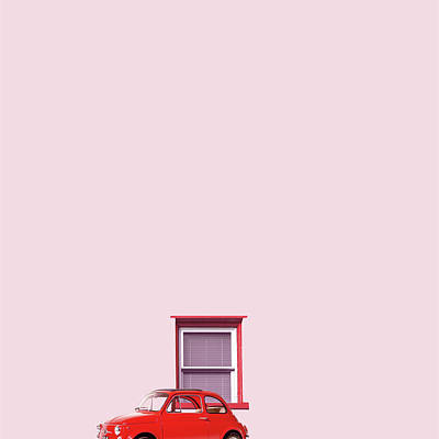 Minimal Photograph - Red Car by Caterina Theoharidou