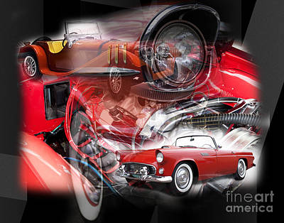 Photograph - Red Car Dreams by John Rizzuto