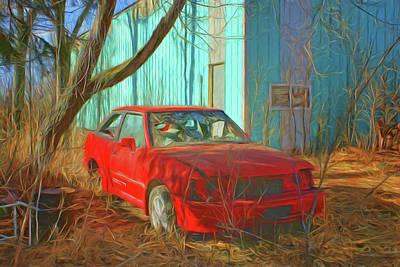 Photograph - Red Car - Escort by Nikolyn McDonald