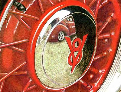 Painting - Red Car by Tammie Painter