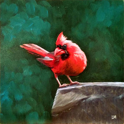 Painting - Red Cardinal by Linda Merchant