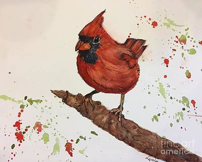 Painting - Red Cardinal by Lucia Grilletto