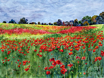 Meadow Painting - Red Carpet by Hailey E Herrera