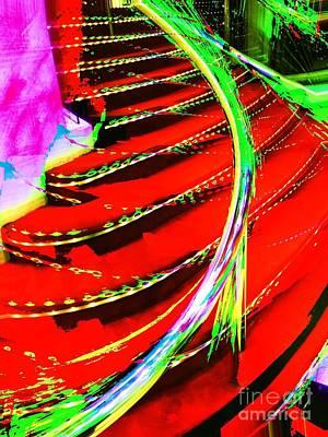 Photograph - Red Carpet Staircase by Jenny Revitz Soper