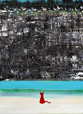 Painting - Red Cat In Front Of The Castle Wall by Fabrizio Cassetta