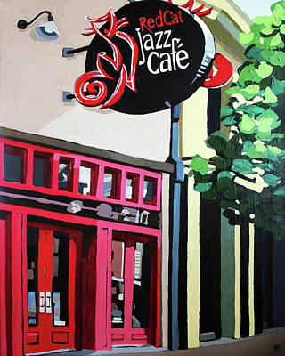 Painting - Red Cat Jazz Cafe by Melinda Patrick