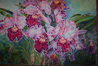 Blc Painting - Red Cattleyas by Phyllis Bleau