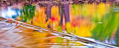 Red Cedar River At Msu Pano  Art Print by John McGraw