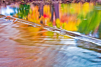 Photograph - Red Cedar River Reflection At Msu by John McGraw