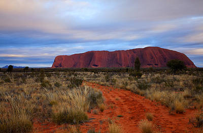 Red Center Dawn Print by Mike  Dawson