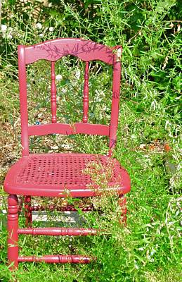 Photograph - Red Chair by Caroline Stella