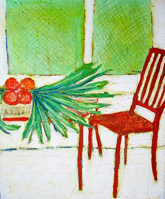 Painting - Red Chair by Clarence Major